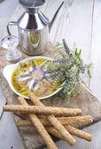 Plate of raw fish — Стоковое фото