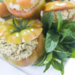 Stuffed tomato with greens - 