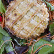 Vegeterian pie with greens - Stock Photo