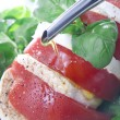 Plate of caprese — Stock Photo #6925097