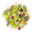 Salad of flowers - Stock Photo
