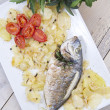 Baked Sea Bream - Stock Photo
