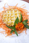 Vegeterian pie with carrot — Stock Photo