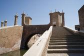 Comacchio the three bridges — Stock Photo