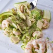 Shellfish and zucchini — Stock Photo