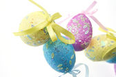 Easter egg with colorful bow — Stock Photo