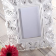 Blank photo frame and flower - Stock Photo