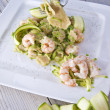 Stock Photo: Shellfish and zucchini