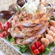 Plate of shrimps - Stock Photo