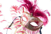 Venice mask with confetti — Stock Photo