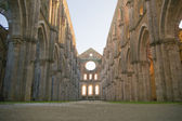 Abbey of san galgano tuscany italy — Stock Photo
