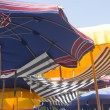 Beach umbrellas - Foto Stock
