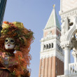 Carnival of venice italy — Stock Photo