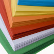 Stack of colored paper - 图库照片