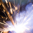 Stock Photo: Joining metals by welding