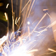Joining metals by welding - Stock Photo