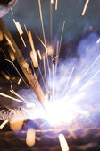 Joining metals by welding — Stock Photo