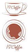 Ben kahve severim — Stok Vektör