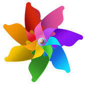 Rainbow whirligig — Stock Photo