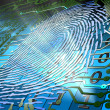 Stock Photo: Biometric fingerprint-based identification