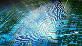 Biometric fingerprint-based identification — Stock Photo