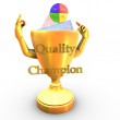 Stock Photo: Quality champion cup
