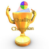Quality champion cup — Stock Photo