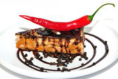 Cake with chilli — Stock Photo