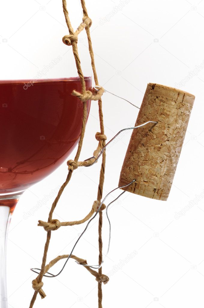 Red Wine and corck   Stock Photo #6890304