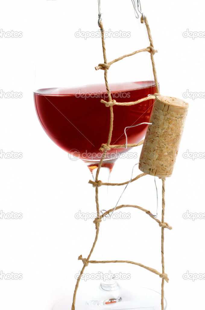 Red Wine and corck  — Stock Photo #6890316