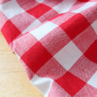 checkered tablecloth — Stock Photo