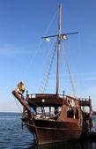 Piratical frigate — Stock Photo