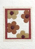 Papercraft flower in frame — Zdjęcie stockowe