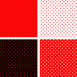 Stock Vector: Seamless pattern pois red and black
