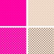 Seamless pattern pois white and pink - Stock Vector