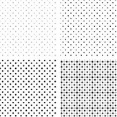 Seamless pattern pois white and black — Stock Vector