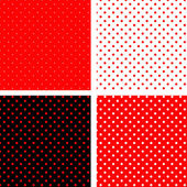 Seamless pattern pois red and black — Stock Vector