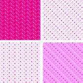 Seamless pattern pois white and pink — Stock Vector