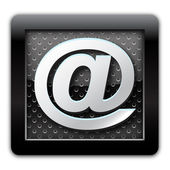 Address metallic icon — Stock Photo