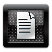 Document metal icon — Stock Photo