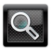 Suche metall-symbol — Stockfoto