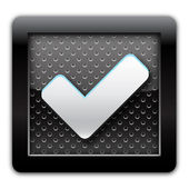 Validation metal icon — Stock Photo