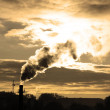 Factory pipe's smoke and sun — Stock Photo #7317551