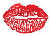 Marque de lèvres — Vecteur
