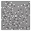 Black  maze - Stock Vector