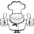 Stock Vector: Smiling chef showing thumbs up