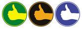 标志竖起大拇指 — 图库矢量图片