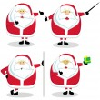 Royalty-Free Stock Vectorafbeeldingen: Santas in different positions. Set#1