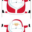 Stock Vector: Santas splits