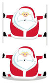 Santas splits — Stock Vector